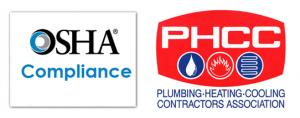 OSHA Compliance Logo & PHCC Logo
